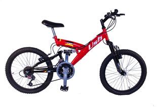 Bicicleta Mountain Bike R20 Ush Doble - Suspensión 18 Velocidades