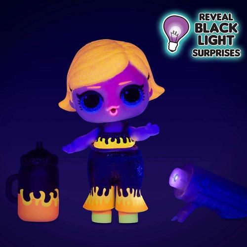 L.o.l. Surprise! Lights Glitter Doll 8 Surprises Black Li...