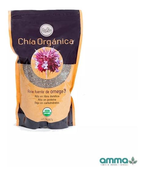 Chia Orgánica 907 G Eco Pan Proteína Omega 3 Envio Hoy Full
