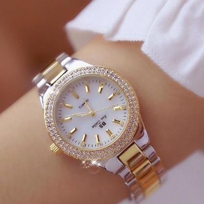 Moda Rosa De Ouro Relógios De Quartzo Feminino