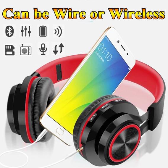 Fone E Mic Bluetooth 4.1 Headset Dobrável Super Bass Sond