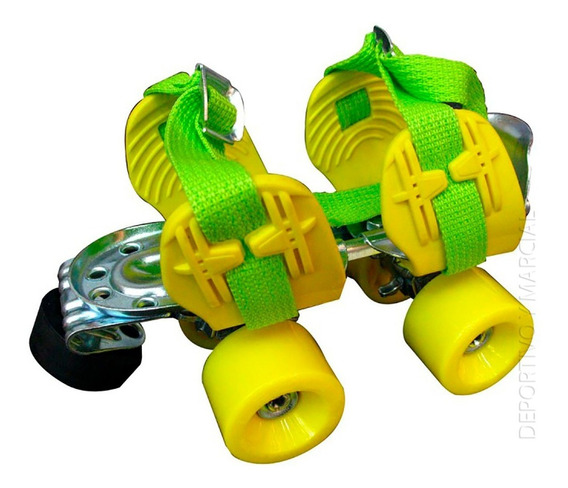 Patines Leccese Classic Extensibles Base Metal Rosa Amarillo
