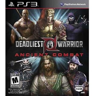Deadliest Warrior Ancient Combat Ps3 Novo Original Lacrado