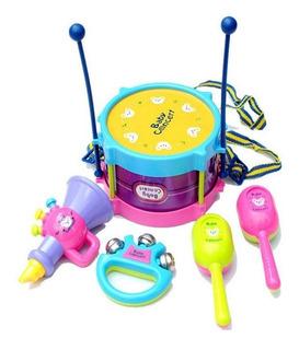 5pc Niños Tambores Instrumentos Musicales Juguete