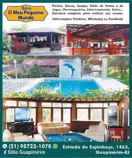 Sítio Para Locação Em Guapimirim, Espinhaço, 4 Dormitórios, 3 Suítes, 7 Banheiros, 15 Vagas - 009