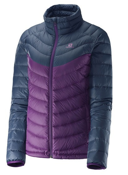 Campera Salomon Halo Down Hoodie Mujer Pluma-inflable