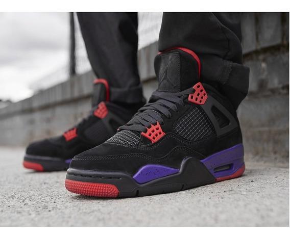 Tenis Nike Jordan 4 Retro Raptors Drake Nuevo Hombre 2019