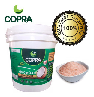 Kit 4 - Balde Óleo De Coco Extra Virgem Copra 3,2l + Brinde
