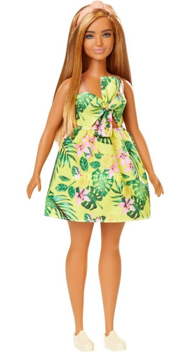 Barbie Fashionistas #126 Vestido Tropical Mattel Fxl59