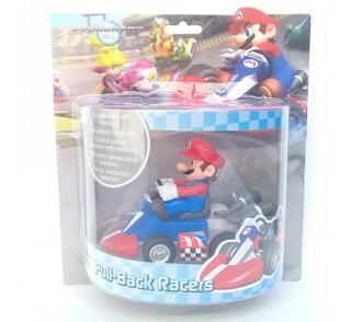 Mario Bros Kart. Auto A Tracción Con Figura De Mario.
