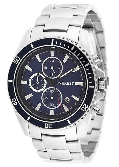 Relógio Masculino Everest Es-30094 Garantia - Mens Blue
