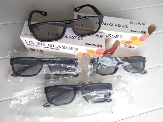 Kit 4 Óculos De Cinema 3d Lg Para Smart Tv