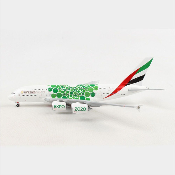 Miniatura Avião Emirates A380-800 Expo 2020 1/400 Gemini