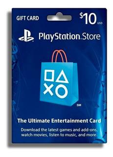 Tarjeta Prepago Psn Playstation 10 Usd Dolares