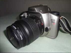 Câmera Canon Eos 3000n Analogica Filme + Lente 35-80mm