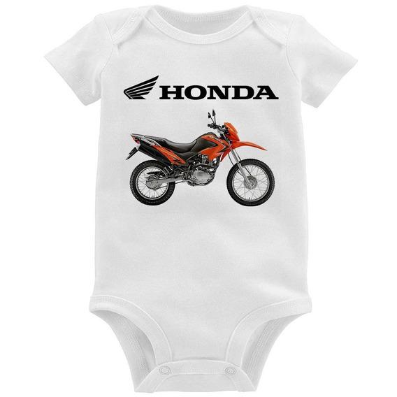 Body Bebê Moto Honda Nxr 150 Bros Laranja