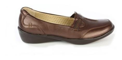 Zapato Mocasin Onena Mujer Piel Café-negro 1144