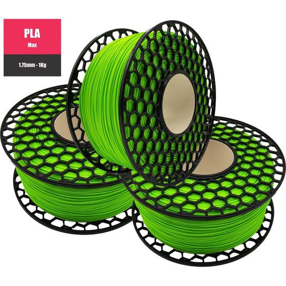 Filamento Pla Max Verde - 1.75mm - 1kg
