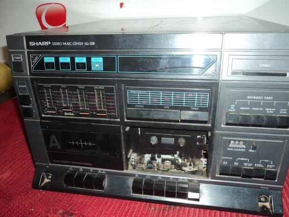 Radio ;fita Cassete / Vitrola /sharpp / Nao Funciona /retir