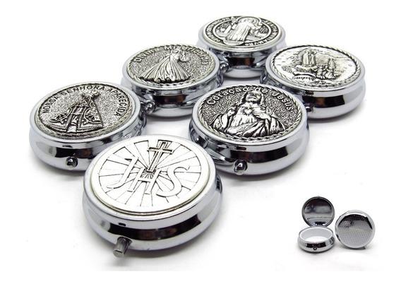 Teca Porta Hóstia Eucaristia Em Metal 4,7 X 1,7 Unidade