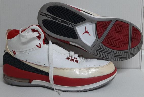 Tênis Jordan Couro Pouquíssimo Uso 44 Branco C Vermelho