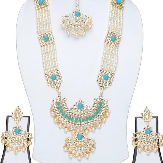 Joia Indiana Saree Sari Kundan Tikka Brincos Kit 3pcs #55