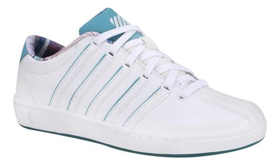 Tenis K-swiss Court Pro Ll Blanco / Azul Mujer 95063-157