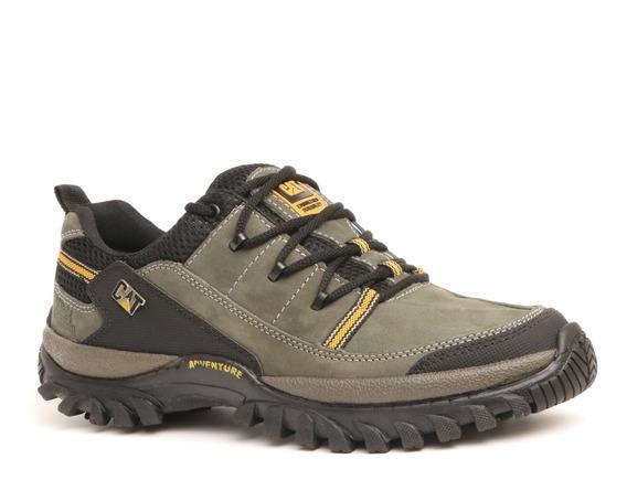 Sapato Cat Cano Baixo Cores Cinza E Preto