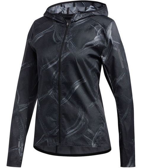 Campera adidas Own The Run Graphic Impermeable De Mujer