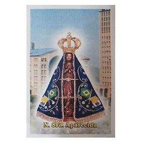 Santinho N. Sra. Aparecida Com Basílica - Pacote C/ 100 Unid