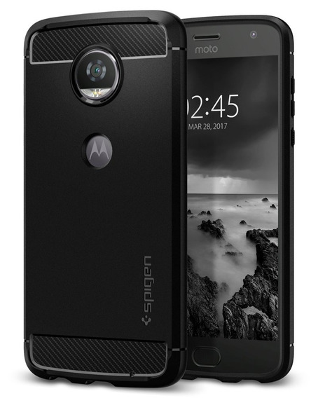 Spigen Rugged Armor Moto Z2 Play Funda With Resilient Shock