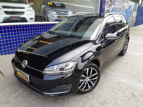 Vw Golf Variant Highline 2017 Preta 1.4 Tsi Flex Top Teto