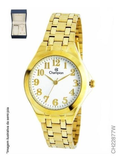 Relógio Champion Feminino Analógico Dourado Ch22877w