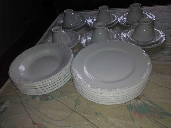 Jogo De Jantar 30 Peças Porcelana Schmidt