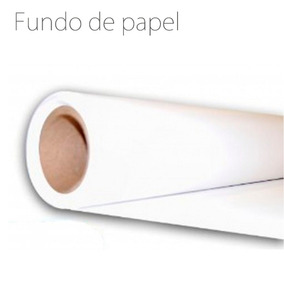 Fundo Fotográfico De Papel Branco - Tamanho 2,40x10,00m