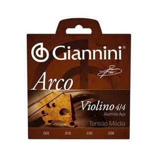 Encordoamento Giannini Para Violino Serie Arco Geavva Média