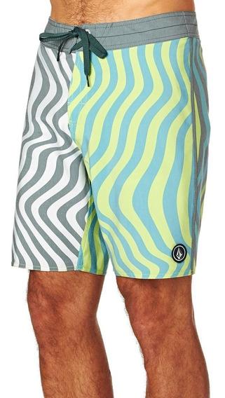 Boardshort Hombre Volcom Short Spangler Egr Traje De Baño