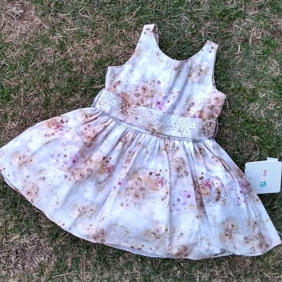 Vestido Menina Paraiso Moda Festa Criança Tam 1/2/3 Ref 6011 Primavera/ Verão