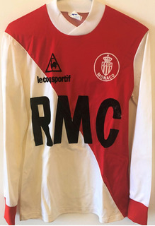 Camisa Monaco 1981/82 De Jogo Mangas Longas Raríssima