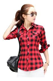 Blusa Camisa Xadrez Feminina Importada Pronta Entrega