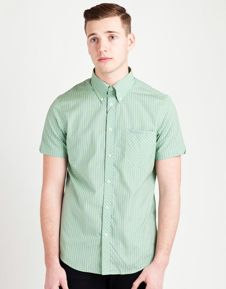 Ben Sherman Wilshire (gingham) Soft Mint Small