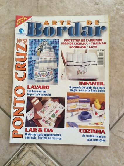 Revista Arte De Bordar Ponto Cruz 57 Infantil Cozinha I186