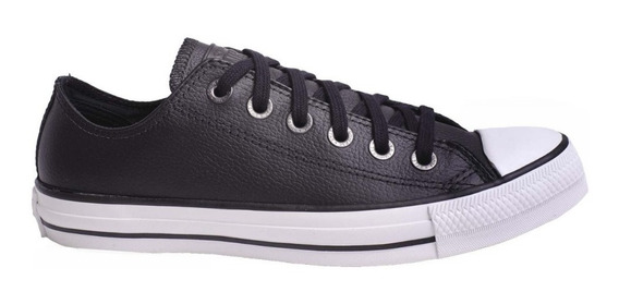 Zapatilla Converse Unisex All Star Ct Leather Ox Negro Cli