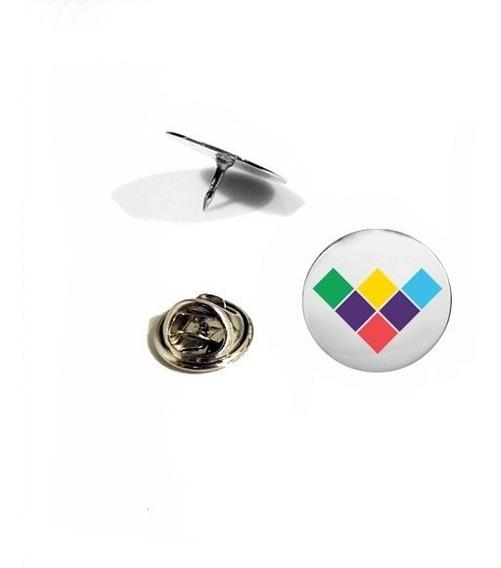 Kit 10 Pins ,botton , Broche Aço, Logo, Logotipo De Empresa