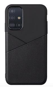 Capa Em Gel Com Textura Couro Para Samsung Galaxy A51 Preta