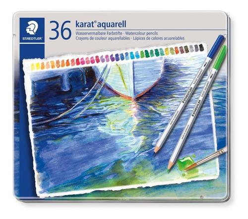Lápis De Cor Staedtler Karat Aquarelável 36 Cores