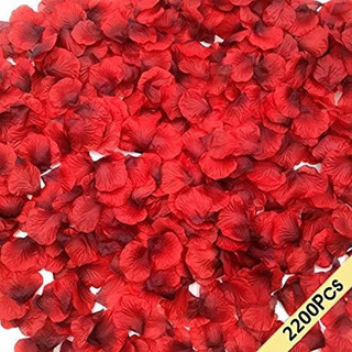 Rosas Decoración De Pétalos De Rosa De Seda Oscura,