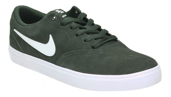 Zapatillas Nike Sb Check Solarsoft 302 Verde Musgo Original!