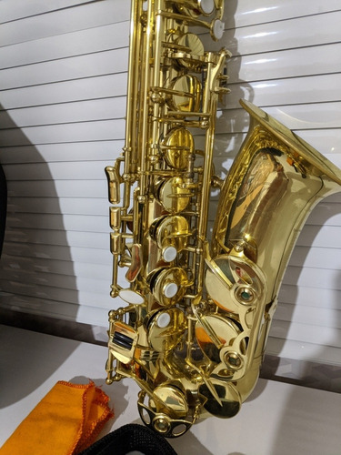 Saxofone Alto Harmonics  Dourado Mib Completo