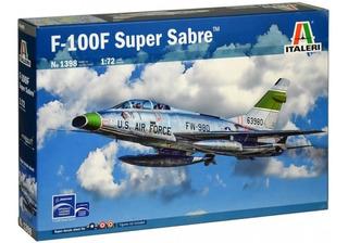 Avião F-100 F Super Sabre Italeri 1/72 Kit Tipo Revell